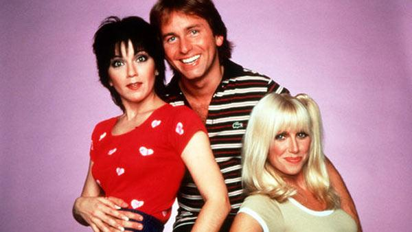 Joyce DeWitt, John Ritter and Suzanne Somers appear in a promotional photo for Threes Company. - Provided courtesy of DLT Entertainment