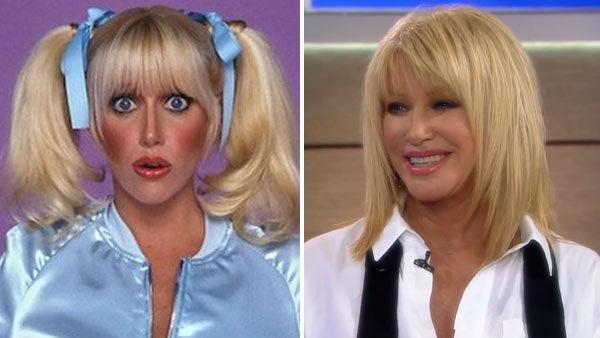 Suzanne Somers appears in a promotional photo for 'Three's Company. / Suzanne Somers appears in a still from the webseries, 'Suzanne Somers: Breaking Through' on February 2, 2012.