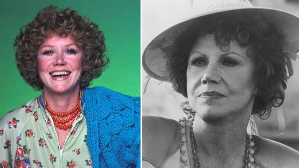 Audra Lindley appears in a promotional photo for 'Three's Company. / Audra Lindley appears in a still from the 1982 film 'Cannery Row.'