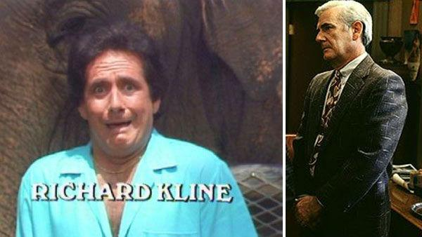 Richard Kline appears in the credits of 'Three's Company.' / Richard Kline appears in a still from the 1999 film 'Liberty Heights.'