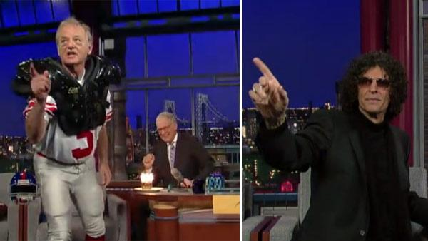 Bill Murray appears on The Late Show with David Letterman on Jan. 31, 2012. / Howard Stern appears on The Late Show on Feb. 1, 2012. - Provided courtesy of CBS / Worldwide Pants