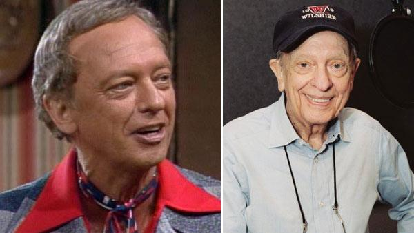 Don Knotts appears in a still from 'Three's Company.' / Don Knotts appears in the recording studio of the 2005 film, 'Chicken Little'