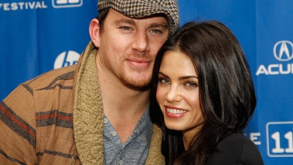 Actor Channing Tatum, a cast member in The Son of No One, poses with his wife, actress Jenna Dewan-Tatum, right, at the films premiere during the 2011 Sundance Film Festival in Park City, Utah, on Friday, Jan. 28, 2011. - Provided courtesy of AP / Danny Moloshok