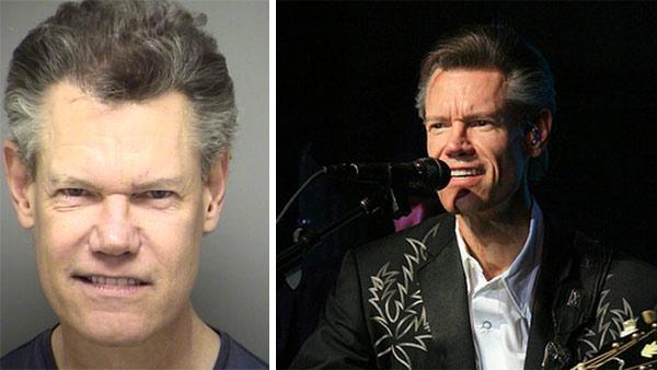 Randy Travis appears in this booking photo released by the Sanger Police Department on Feb. 6, 2012, shortly after he was arrested for public intoxication. / Randy Travis appears in concert at the French Lick Resort in Indiana on Dec. 5, 2008. - Provided courtesy of OTRC / Sanger Police Department / flickr.com/photos/tnwanderer
