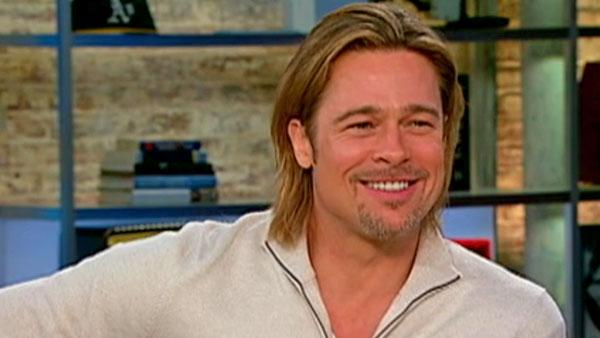 Brad Pitt appears in a February 6, 2012 interview on CBS. - Provided courtesy of CBS