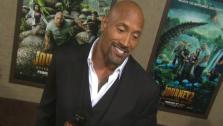 Dwayne Johnson talks about his new 2012 film, Journey 2: The Mysterious Island, with OnTheRedCarpet.com at the February 2 premiere.