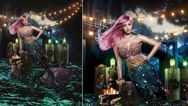 Katy Perry appears in a photo as a pink-haired mermaid from her new campaign for ghd. - Provided courtesy of David LaChapelle for ghd / Marie Claire