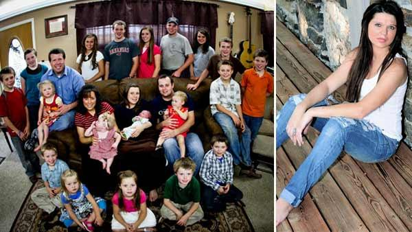 The Duggar Family appears in a promotional photo from TLC. / Amy Duggar appears in a photo posted on her official Facebook page on January 1, 2012. - Provided courtesy of TLC / Facebook.com/pages/Amy-Duggar