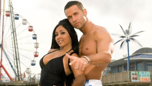 Snooki and The Situation appear in a promotional photo for Jersey Shore. - Provided courtesy of MTV/Ian Spanier