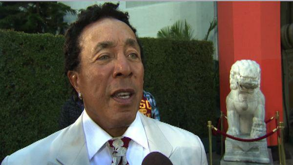 Smokey Robinson talks to OnTheRedCarpet.com at Michael Jackson's hand and footprint ceremony at the Grauman's Chinese Theatre on Jan. 26, 2012.