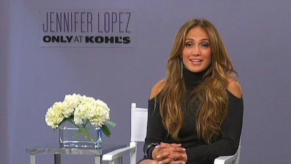Jennifer Lopez describes her new fashion line for Kohl's in an interview with OnTheRedCarpet.com in October 2011.