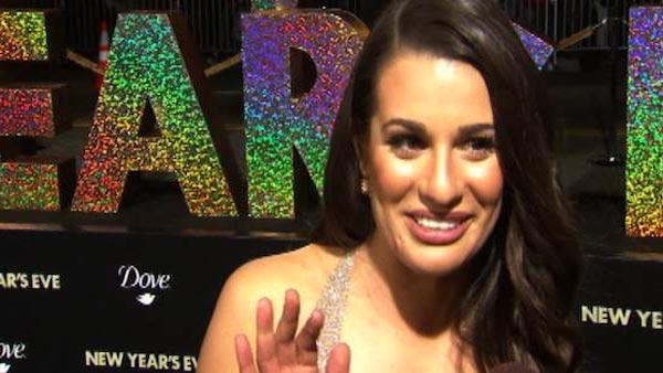 Lea Michele talks to OnTheRedCarpet.com at the premiere of 'New Year's Eve' in Los Angeles on Dec. 5, 2011.