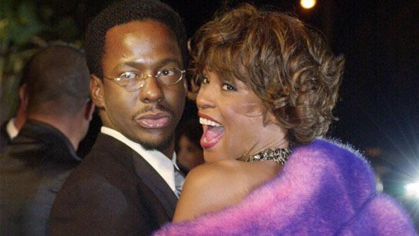 Bobby Brown and Whitney Houston arrive at Vanity Fairs Oscar party at Mortons in Hollywood on Sunday, March 25, 2001. - Provided courtesy of AP / Laura Rauch