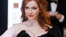 Actress Christina Hendricks arrives for the BAFTA Film Awards 2012, at The Royal Opera House in London, Sunday, Feb. 12, 2012. - Provided courtesy of AP / Alastair Grant