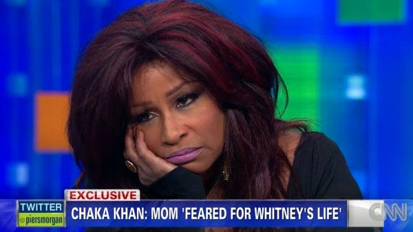 Chaka Khan appears on Piers Morgan Tonight on Feb. 13, 2012. - Provided courtesy of Turner Broadcasting / CNN