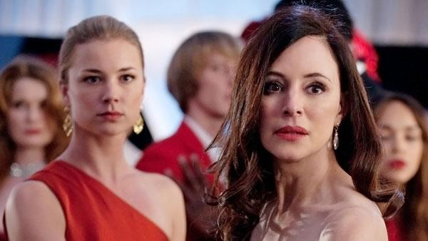 Emily VanCamp and Madeleine Stowe appear in a scene from Revenge, in an episode that aired on Feb. 15, 2012. - Provided courtesy of ABC / Colleen Hayes