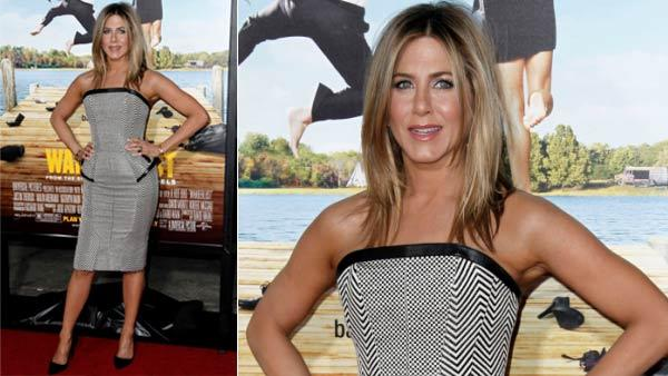 Jennifer Aniston arrives at the premiere of Wanderlust in Los Angeles, Thursday, Feb. 16, 2012. Wanderlust opens in theaters Feb. 24, 2012. - Provided courtesy of AP Photo / Matt Sayles