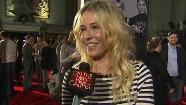 Chelsea Handler talks to OnTheRedCarpet.com at the Los Angeles premiere of his 2012 film This Means War. - Provided courtesy of OTRC