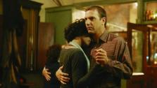 Whitney Houston and Kevin Costner appear in a scene from the 1992 movie The Bodyguard. She played a singer who falls in love with her bodyguard, who is portrayed by Coster. - Provided courtesy of Warner Bros. Pictures