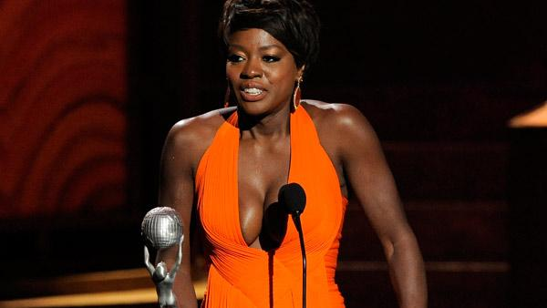 Viola Davis accepts the award for outstanding actress in a motion picture for The Help at the 43rd NAACP Image Awards on Friday, Feb. 17, 2012, in Los Angeles. - Provided courtesy of AP / Chris Pizzello