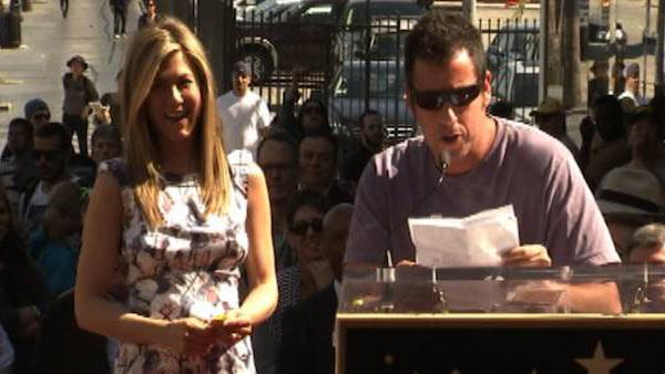 Adam Sandler: Once upon a time, Aniston...