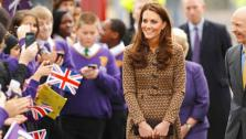 The Duchess of Cambridge arrives at Oxford Spires Academy School in Oxford to visit children helped by the Art Room charity. - Provided courtesy of The Prince of Wales press office