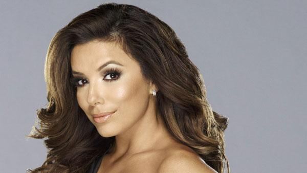 Eva Longoria appears in a promotional photo for 'Desperate Housewives' in 2012.
