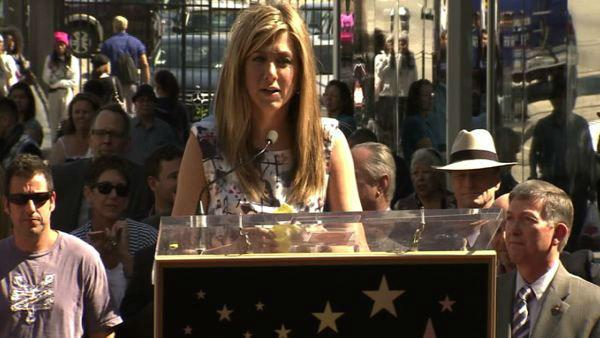 Jennifer Aniston received a star on the Hollywood Walk of Fame on Wednesday, Feb. 22, 2012.