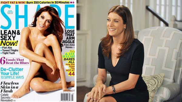 Kate Walsh appears naked on the cover of Shape magazines March 2012 issue. / Kate Walsh appears in a scene from the ABC medical drama Private Practice. - Provided courtesy of Shape magazine / ABC / Richard Foreman