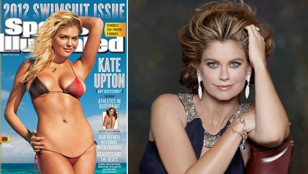 Kate Upton appears on the cover of Sports Illustrateds 2012 Swimsuit Issue. / Kathy Ireland appears in a photo from her official Facebook page posted in September 2010. - Provided courtesy of Si.com/Swimsuit / Walter Iooss Jr. / Sports Illustrated / facebook.com/kathyirelandWorldwide