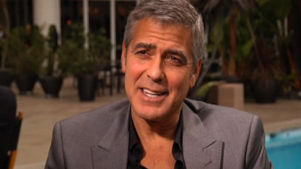 George Clooney talks to OnTheRedCarpet.com in February 2012, before the Oscars.
