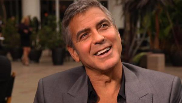 George Clooney talks to OnTheRedCarpet.com in February 2012, before the Oscars. - Provided courtesy of OTRC