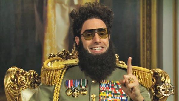 Sacha Baron Cohen appears on the Today Show as his character from the 2012 film The Dictator. - Provided courtesy of NBC / YouTube