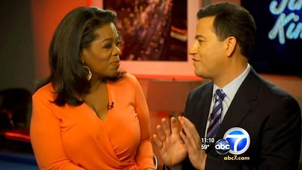 Jimmy Kimmel 'bowled over' by Oprah Winfrey
