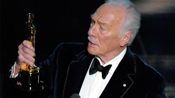 Christopher Plummer accepts the Oscar for best actor in a supporting role for Beginners during the 84th Academy Awards on Sunday, Feb. 26, 2012, in the Hollywood section of Los Angeles. - Provided courtesy of AP / Mark J. Terrill
