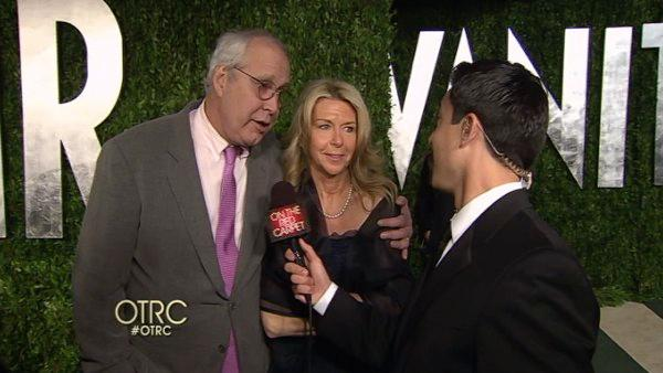 OnTheRedCarpet.com talks to Chevy Chase at the Vanity Fair after party on February 26. - Provided courtesy of OTRC