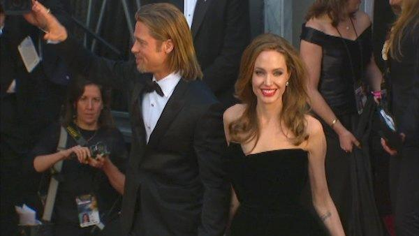 Angelina Jolie, Brad Pitt on red carpet