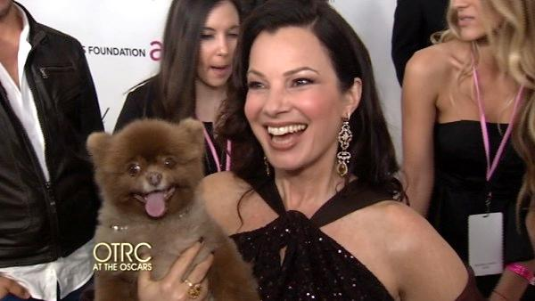 OnTheRedCarpet.com talks to Fran Drescher at the Elton John AIDS Benefit after party on February 26. - Provided courtesy of KABC