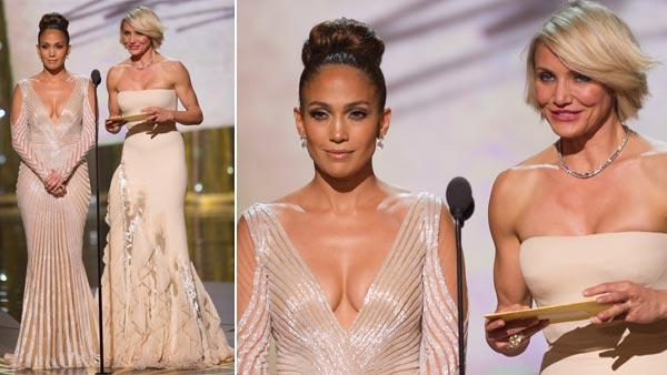 Jennifer Lopez and Cameron Diaz present at the 84th Annual Academy Awards from Hollywood, CA February 26, 2012. - Provided courtesy of Matt Petit / A.M.P.A.S.