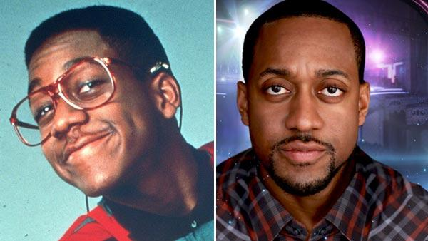 Jaleel White appears as Steve Urkel in a promotional photo for the show 'Family Matters.' / Jaleel White appears in a promotional photo for the 14th season of the ABC show 'Dancing With the Stars.'
