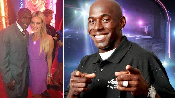 Donald Driver and Peta Murgatroyd appear in a photo posted on her Twitter page on Feb. 28, 2012. / Donald Driver appears in a promotional photo for the 14th season of the ABC show 'Dancing With the Stars.'