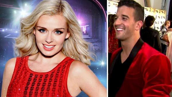 Katherine Jenkins appears in a promotional photo for the 14th season of the ABC show Dancing With the Stars. / Mark Ballas talks to OnTheRedCarpet.com after performing with Kristin Cavallari on Dancing With The Stars on Oct. 4, 2012. - Provided courtesy of ABC