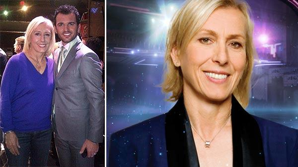 Martina Navratilova and Tony Dovolani appear on a photo posted on her Twitter page on Feb. 28, 2012. / Martina Navratilova appears in a promotional photo for the 14th season of the ABC show 'Dancing With the Stars.'