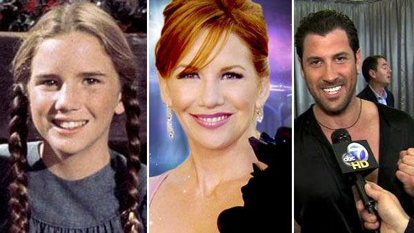 Melissa Gilbert appears in a promotional photo for 'Little House on the Prairie.' / Maksim Chmerkovskiy talks to OnTheRedCarpet.com on Nov. 7, 2011. / Melissa Gilbert appears in a promotional photo for the 14th season of 'Dancing With the Stars.'
