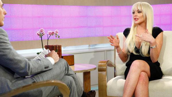 Lindsay Lohan appears in an interview set to air on the Today Show on March 1, 2012. - Provided courtesy of OTRC