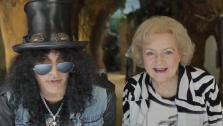 Betty White and Slash appear in a commercial for the Los Angeles Zoo. - Provided courtesy of Greater Los Angeles Zoo Association
