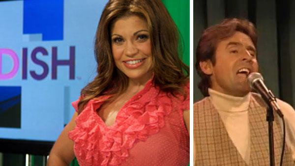 Danielle Fishel appears on a promotional photo for the Style Network show 'The Dish' in 2011. / Davy Jones appears on 'Boy Meets World' in 1995.