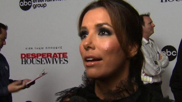 Eva Longoria talks to OnTheRedCarpet.com at a Los Angeles event celebrating the premiere of the eighth and final season of the ABC show 'Desperate Housewives' on Sept. 21, 2011.