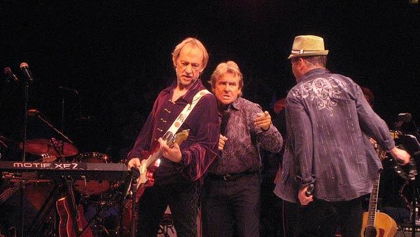 Peter Tork, Davy Jones and Micky Dolenz appear in concert in Westbury, New York on June 17, 2011.