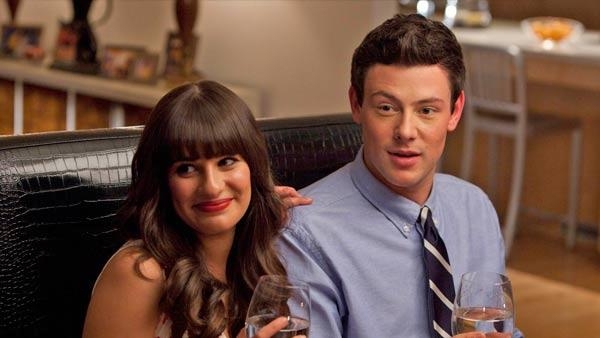 Lea Michele and Cory Monteith appear in a promotional photo for the third season of Glee. - Provided courtesy of FOX